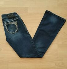 Silver Women's Tuesday Boot Cut Jeans Tag Size 26 Blue Dark Wash