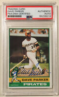1976 Topps DAVE PARKER Signed Autographed Baseball Card PSA/DNA #185 Pirates