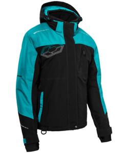 Castle X Women's Phase Jacket Black/Turquoise size 2XL