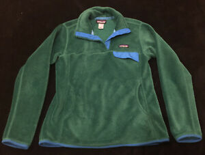 Patagonia Retool Snap-T~Women's Size Large~Green Pullover Jacket~excellent Used
