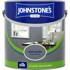Johnstones Quality Steel Smoke - Grey Emulsion Wall Paint 2.5L Silk for Kitchens