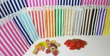More details for candy stripe paper bags gift shop party buffet wedding cake sweet treat colored