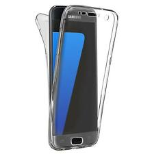 Shockproof 360° Silicone Clear Case Cover For Samsung Galaxy S9 S8 S7 Note 8 9