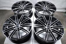 """18"""" Wheels Ford Edge Fusion Honda Accord Civic Cr-V Camry Rav-4 Black Rims 5 Lug"""