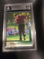 2001 Upper Deck Tiger Woods RC BGS 8.5 NM-MT+