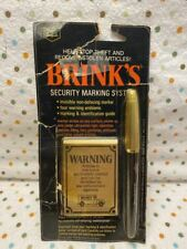 Vintage Brink's Security Marking System Invisible Non Defacing Marker - 1974
