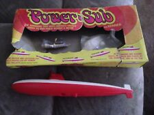 Vintage Kenner Power Sub Toy Submarine #224 Box Power Pellets