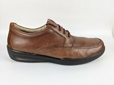 M & S Airflex Brown Leather Lace Up Shoes Uk 12