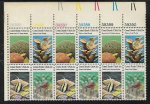 xsz22 Scott 1827-30 US Stamp 1980 15c Coral Reefs Plate Block of 12 UL39385