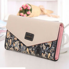 Womens Wallet Floral Leather Trifold Clutch Card Holder Purse Xmas Gift for Her