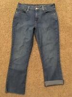 NYDJ Size 10 Not Your Daughters Jeans Mini Boot Cut Lift Tuck Tech Capri Crop