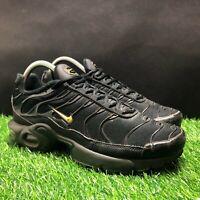 Nike Air Max Plus Kids Boys Black Athletic Shoes Size 6.5 BV0868-001