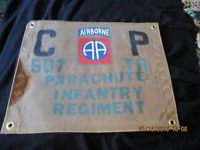 WWII USA 82 ND AIRBORNE 507 TH PARACHUTE  INFANTRY REGIMENT  COMMAND POST FLAG