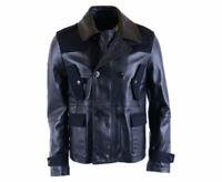 DIESEL BLACK GOLD LICOT BGPSQ Mens Biker Jacket Genuine Leather Outwear Coat
