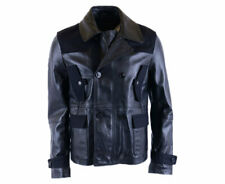 DIESEL BLACK GOLD LICOT Mens Biker Jacket Genuine Leather Outwear Coat Italy