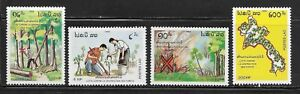 Laos 942-45 Forests Mint NH
