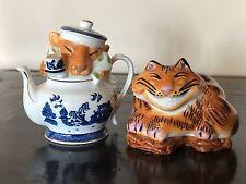 Paul Cardew Alice in Wonderland Cheshire Cat & Mouse Salt & Pepper Shakers