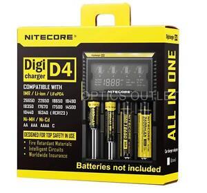 Nitecore D4 Digicharger Universal Charger 18650 RCR123A 17650 14500 AA AAA i2 i4