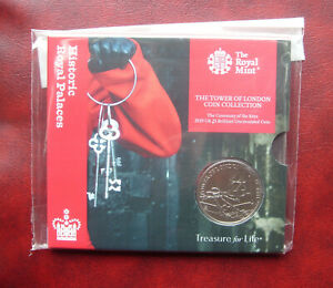 UK 2019 Tower of London - ceremony of the keys 5 pound coin