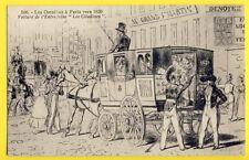 "cpa France Dessin Les OMNIBUS à PARIS vers 1829 Voiture Attelage ""LES CITADINES"""