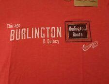 Ringaboy Ladies T-Shirt Burlington Railroad New With Tags Size L