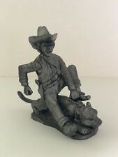 LIMITED EDITION Cowboy Figurine made of pewter - #984 of 2000