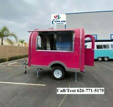 New Electric Mobile Food Trailer Enclosed Concession Stand Design 4 Hitch
