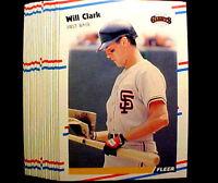 "1988 Fleer WILL CLARK ~ 50 CARD LOT ~ ""THE THRILL"" ~ SF GIANTS ALL STAR 1B"
