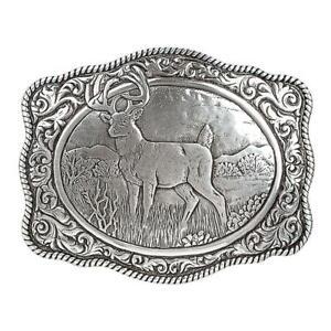 38038 Men's Crumrine Vintage Buck Belt Buckle NEW