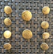 Hart Schaffner Marx Metal Gold Button Set10 Crown Shield Crest For Blazer Jacket