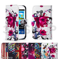 PU LEATHER WALLET CASE COVER FOR SAMSUNG GALAXY S3 (i9300) & S3 MINI (i8190)