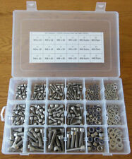 345pc Assorted M5 M6 M8 Stainless Steel Allen Bolts Cap Head