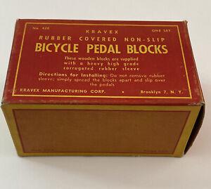 Vintage Kravex Bicycle Bike Pedal Blocks Retro Cycling,In Original Box,Very Rare