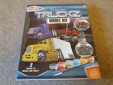 PLASTER TRUCKZ MODEL KIT WITH 3 TRUCKS BRAND NEW IN ORIGINAL SEALED BOX