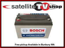 120AH BOSCH AMP HOUR BATTERY AGM 12 VOLT 12V DEEP CYCLE FRIDGE SOLAR BOAT