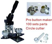 "75mm 3"" Interchangeable Button Maker Machine Badge Material KIT"