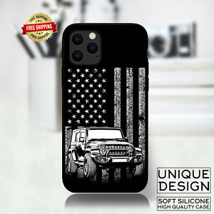 American Flag Jeep Off Road Phone Case Samsung Galaxy S20 S9 Huawei iPhone Case