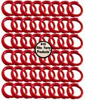 """48 RED #10 LEG BANDS 5/8"""" CHICKEN POULTRY CHICK QUAIL PIGEON DOVE DUCK GOOSE"""