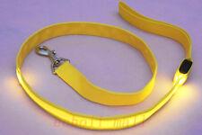 Safety Pet Dog LED Flashing Light Harness Nylon Lead Light GlowLeash Rope Belt
