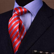 Red & Blue Business Striped 3 Inch Tie Necktie Mens Professional College Fashion