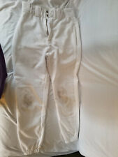 Boys EASTON white baseball pants size Youth Medium with elastic bottom