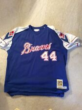 New! MLB1974Atlanta Braves Vintage Authentic Hank Aaron Throwback Jersey Sz XXXL
