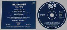 Big House  All Nite  1991 U.S. promo cd  -Rare!