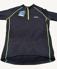 "Ridge Mens Bike Cycling Qwick Dry Long Sleeve Thermal Jersey Black Size M 39-41"""