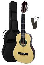 Gitarre/Kindergitarre-1/4-K7L-natur-linkshänder-lefthand-Tasche&Gitarrengurt!n