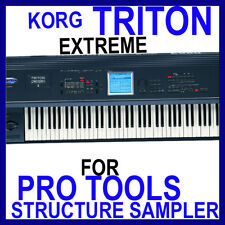 KORG TRITON EXTREME For PRO TOOLS STRUCTURE Presets Sounds 12 DVD'S 45 GB