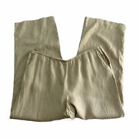 J Jill Love Linen Tan Pull On Pants XL Pockets Lagenlook