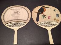 2 Vintage Hand Fan advertising Brazil's finest gems Jewelry H Stern Daimitsu S53