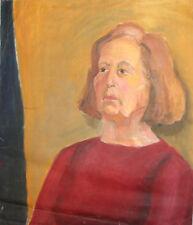 Woman portrait Impressionist oil painting