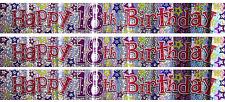 Fun house happy 18th anniversaire 18 aujourd'hui holographique bannière fête décoration 9Ft